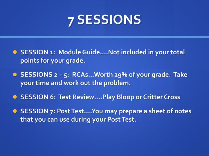 7 SESSIONS