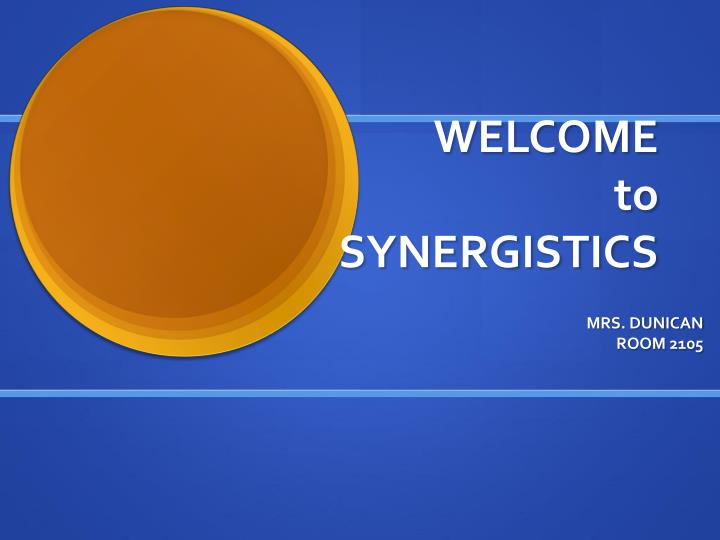 Welcome to synergistics