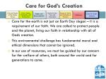 care for god s creation