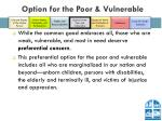 option for the poor vulnerable