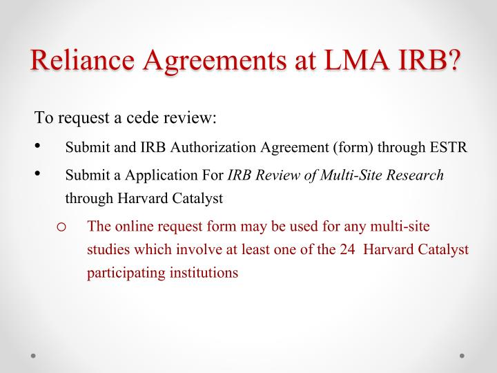Ppt Ceding Review Multiple I Nstitutions One Irb Review