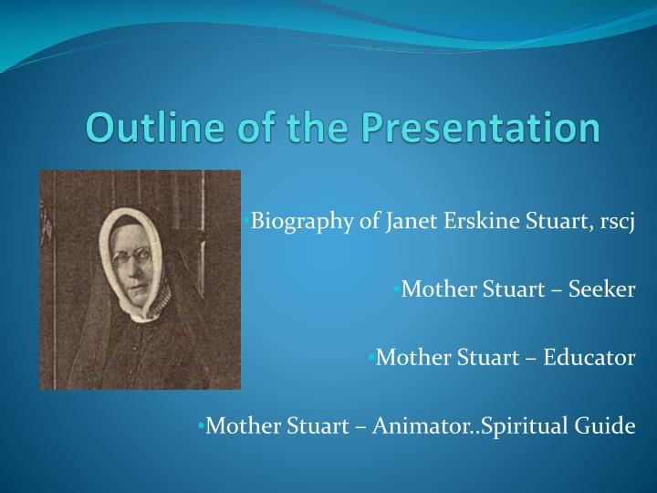 outline of the presentation n.