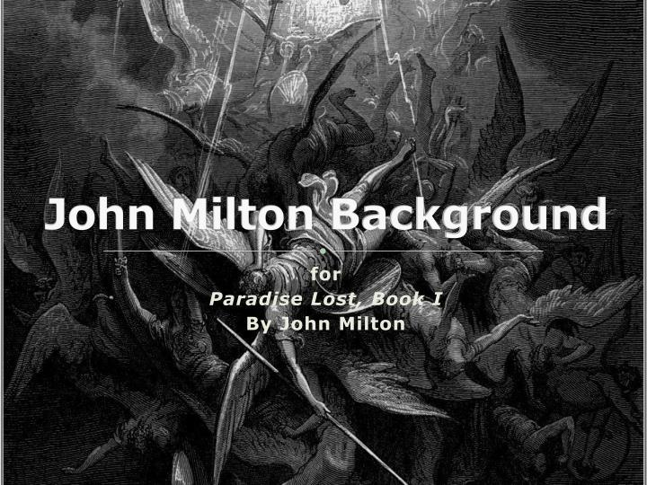 john milton background n.