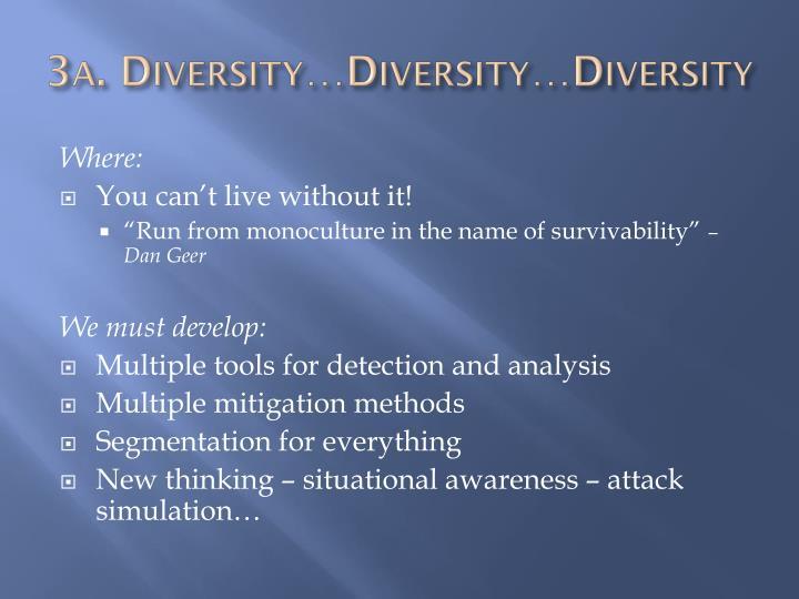 3a. Diversity…Diversity…Diversity