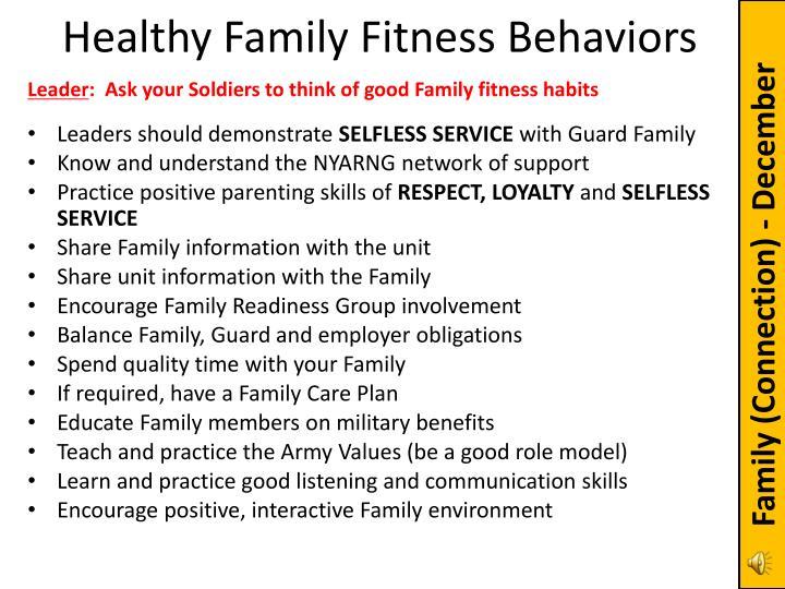 Healthy Family Fitness Behaviors