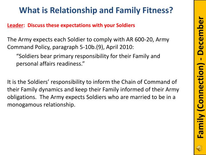 What is Relationship and Family Fitness?