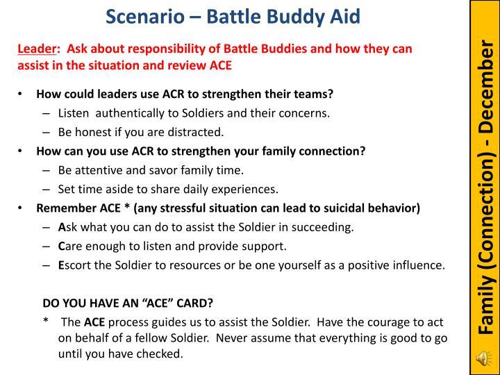 Scenario – Battle Buddy Aid