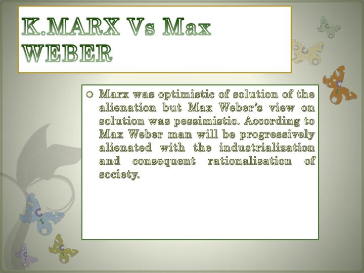 max weber alienation