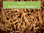 unit 2 population and migration