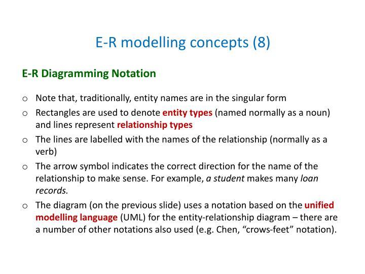 E-R modelling concepts (8)