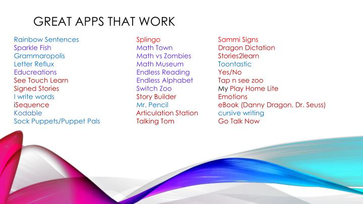 Great Apps that work