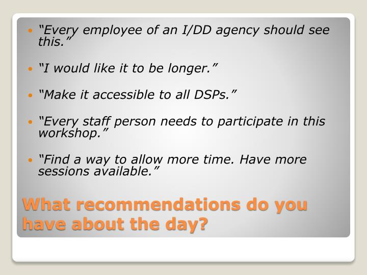 """""""Every employee of an I/DD agency should see this."""""""