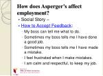 how does asperger s affect employment11