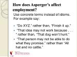how does asperger s affect employment12