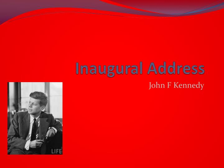 inaugural address n.