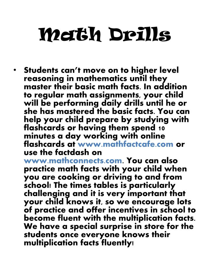 Outstanding Daily Math Drills Elaboration - Math Worksheets ...