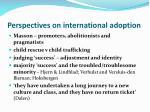 perspectives on international adoption
