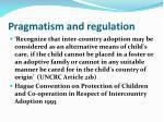 pragmatism and regulation