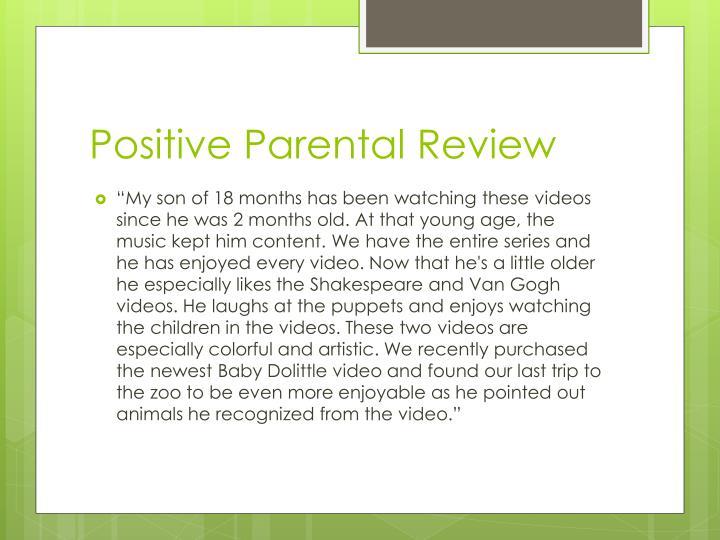 Positive Parental Review