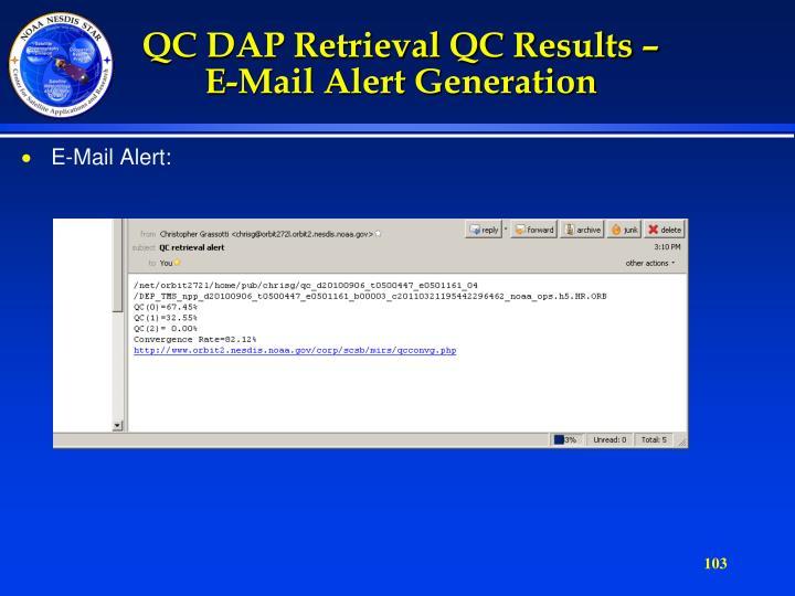 QC DAP Retrieval QC Results –