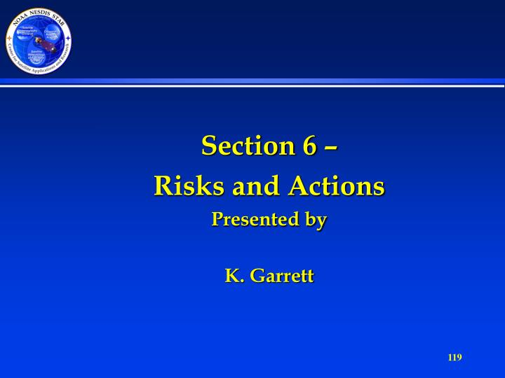 Section 6 –