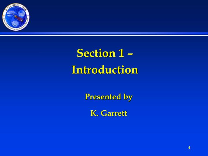 Section 1 –