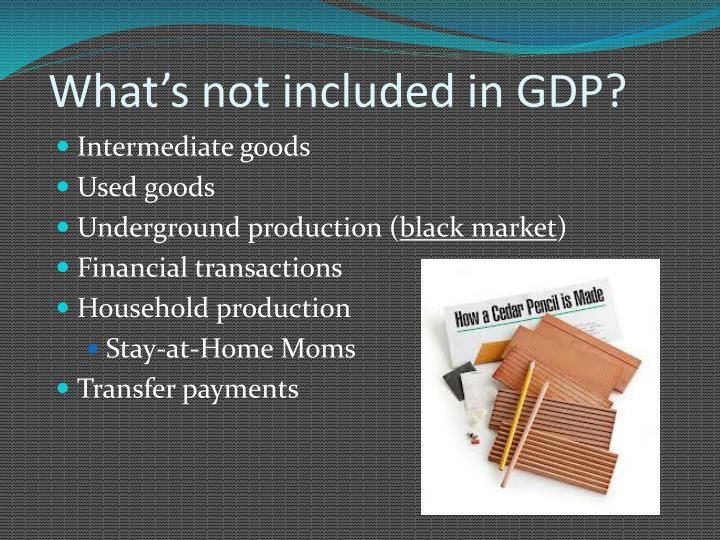 What's not included in GDP?