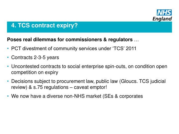 4. TCS contract expiry?
