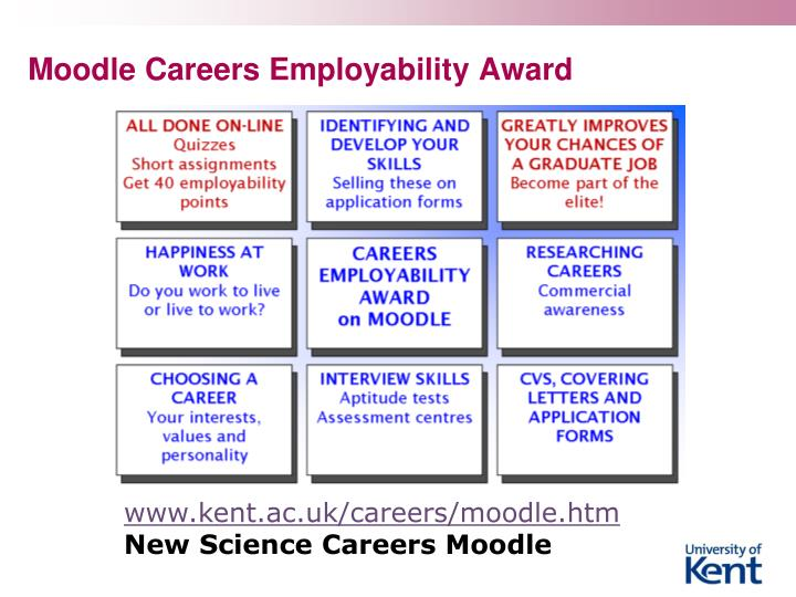 Moodle Careers Employability Award