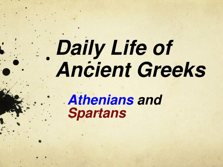 daily life of ancient greeks n.