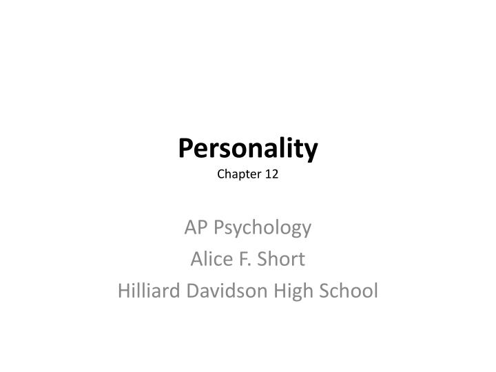 personality chapter 12 n.