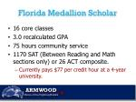florida medallion scholar