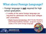 what about foreign language