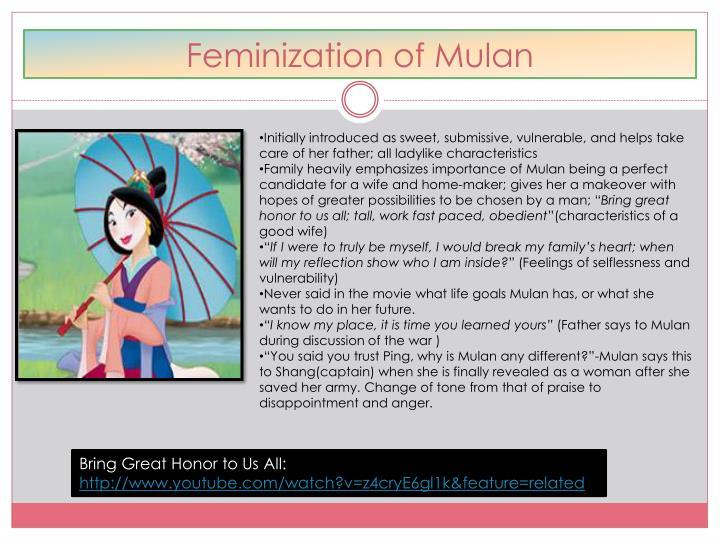 Feminization of Mulan