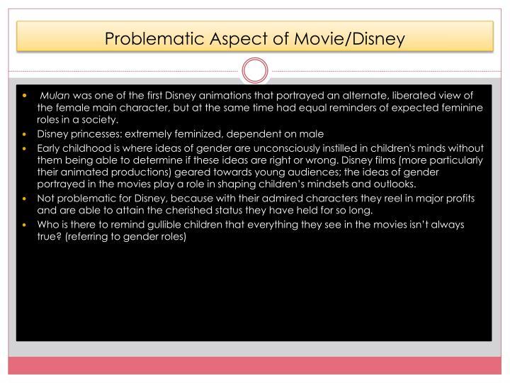 Problematic Aspect of Movie/Disney