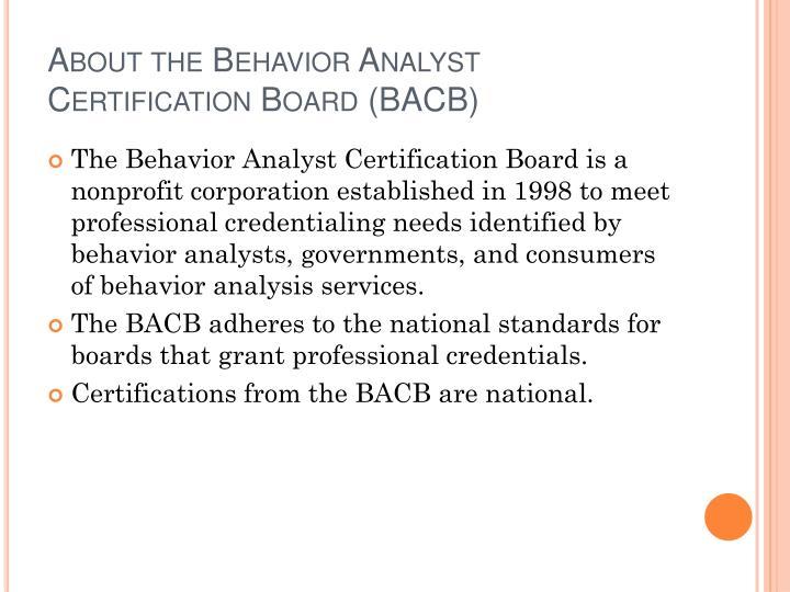 Ppt Certification In Behavior Analysis Powerpoint Presentation