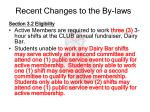 recent changes to the by laws