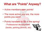 what are points anyway