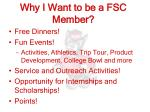 why i want to be a fsc member