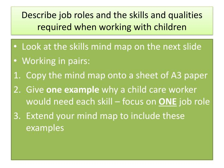 unit 1 working with children Unit 1 an introduction to working with children multi-agency work and professionals and agencies working with children the term multi-agency work is used to describe the way in which.