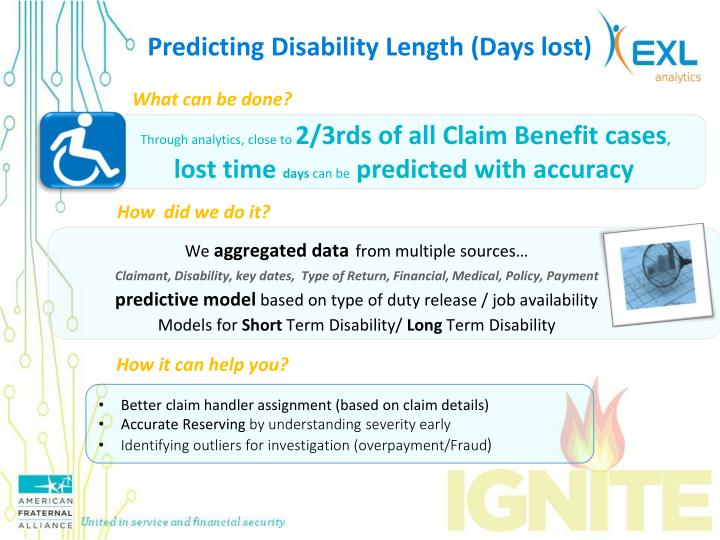 Predicting Disability Length (Days lost)