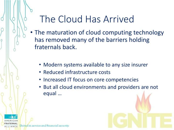 The Cloud Has Arrived