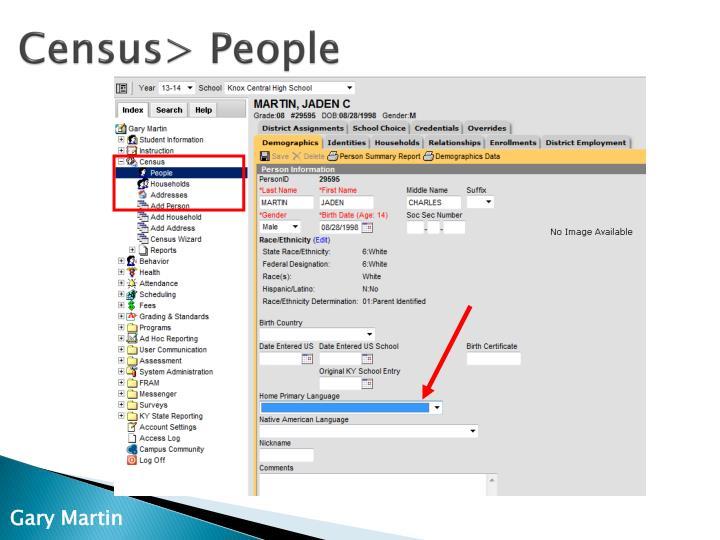 Census> People
