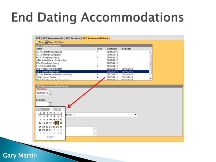 End Dating Accommodations