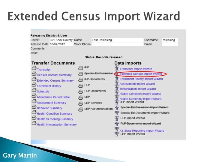 Extended Census Import Wizard