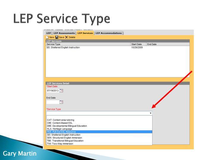 LEP Service Type