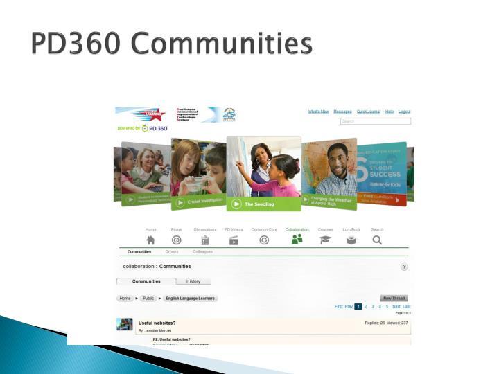 PD360 Communities