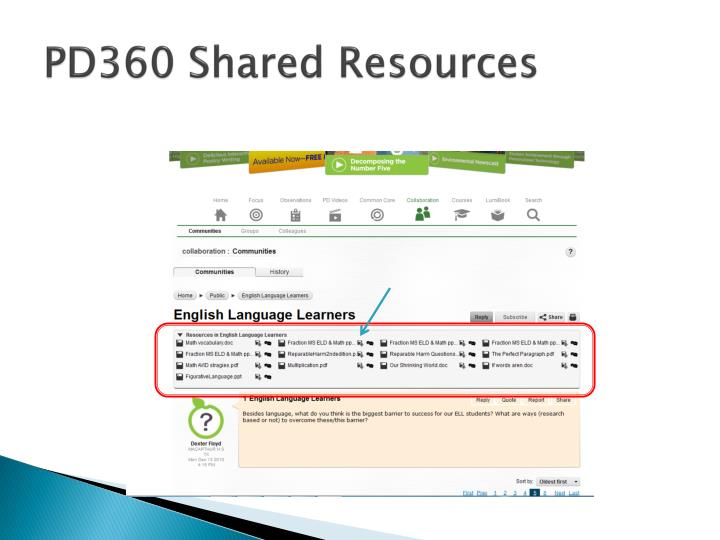 PD360 Shared Resources