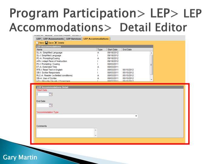 Program Participation> LEP>