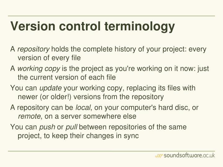 Version control terminology